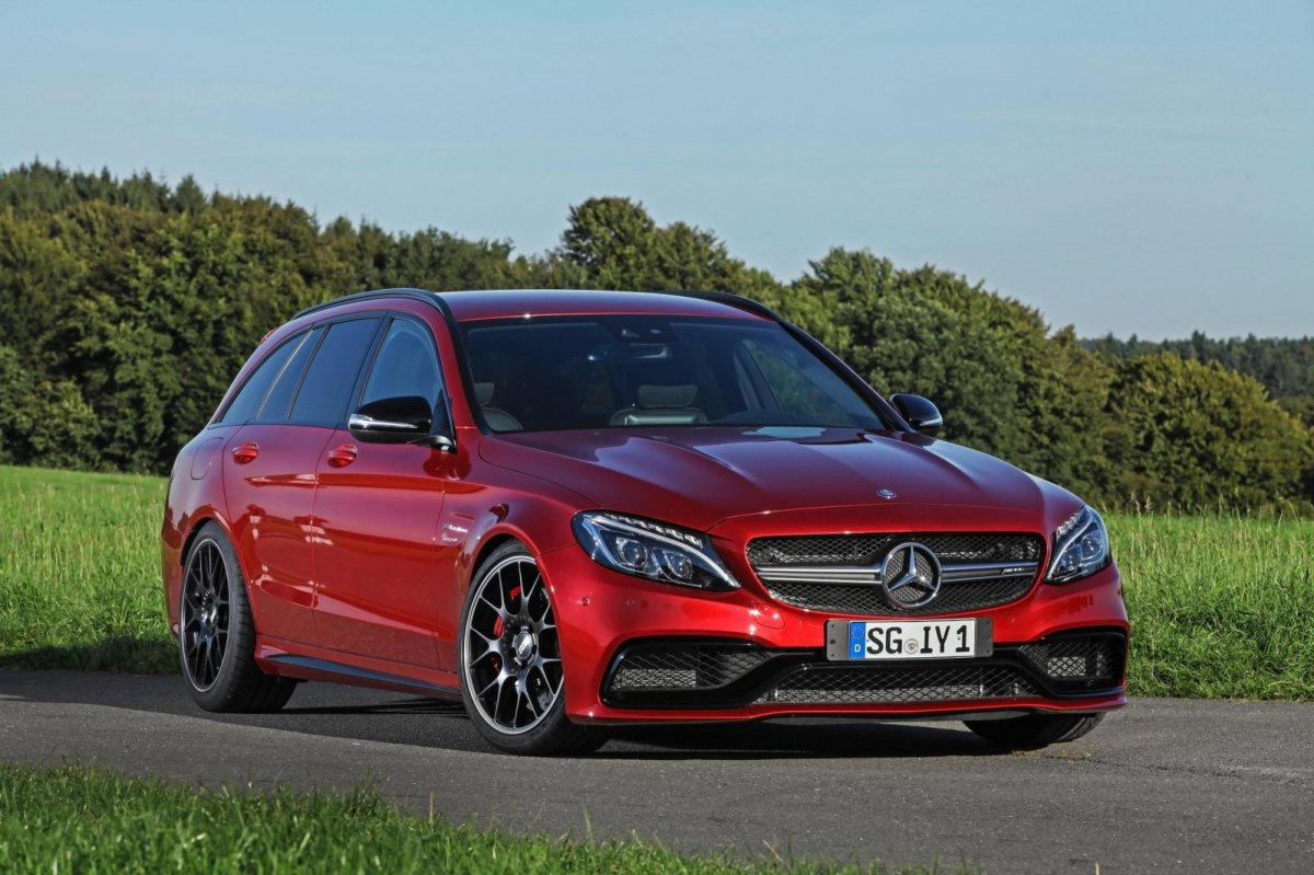 Wimmer Mercedes C63 S AMG rood 2015 05