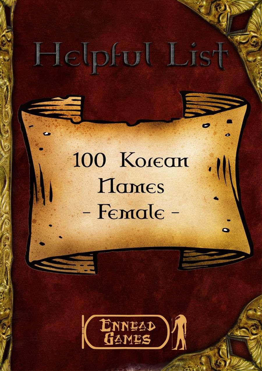 Korean Given Names List