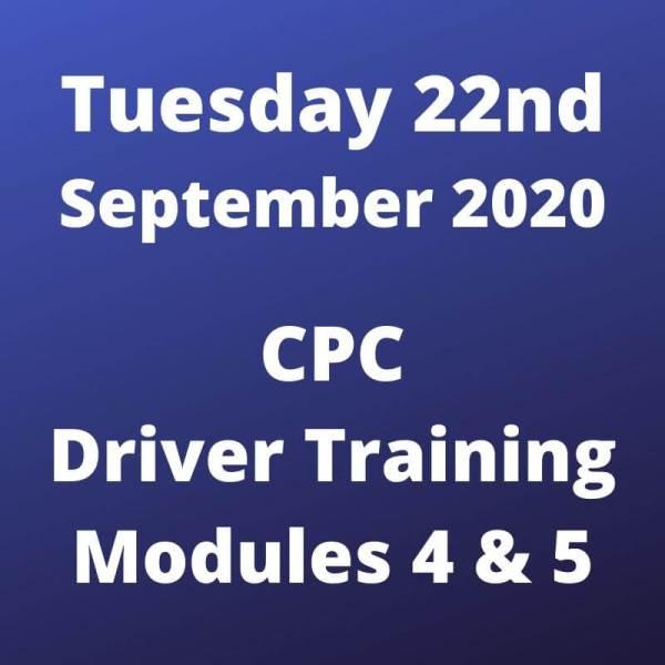 Driver CPC Module 4 Online Wed 22 April 2020