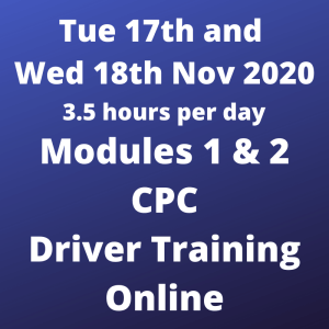 CPC Driver Training All Modules - 17 and 18 Nov 2020