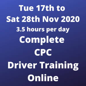 Complete CPC Driver Training - 17 to 28 Nov 2020