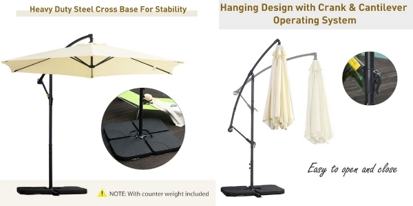 Cantilever Umbrella Outsunny Details