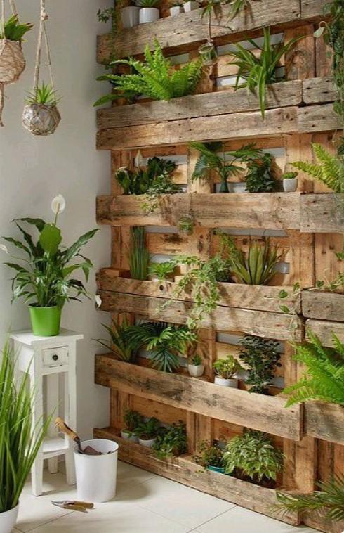 Pallet DIY Garden Wall