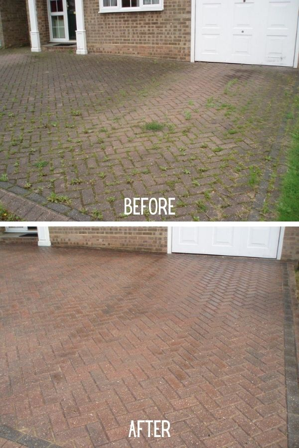 Sealing Block Paving Driveway before and after