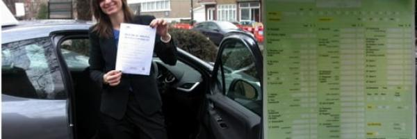 nicola passed her driving test
