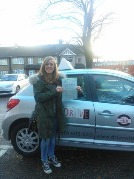 Siobhan passed her driving test first time