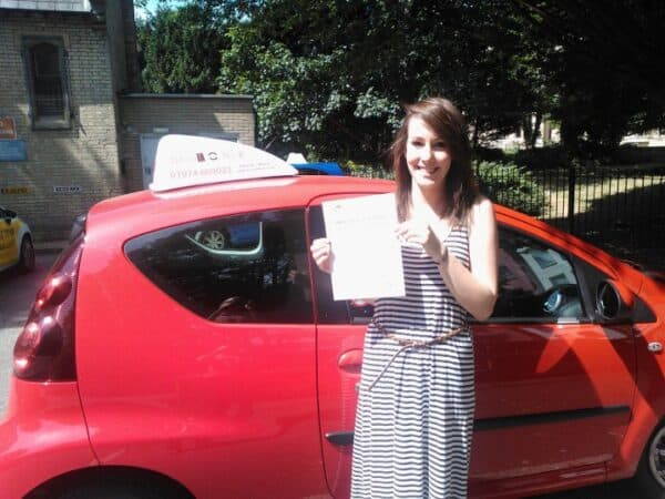 Laura passed her driving test first time