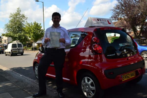 Chris passed his practical driving test first time with Drive with Nik
