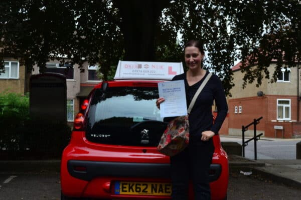 Thea passed her automatic practical driving test first time with Drive with Nik