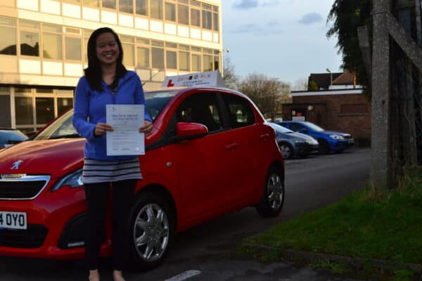 Li-Sa passed her automatic driving test first time Drive with Nik