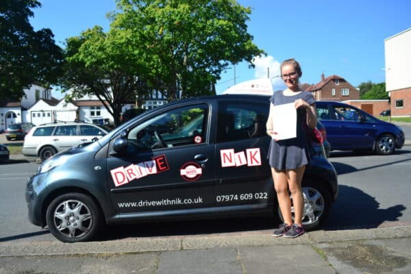 Aga passed her manual practical driving test first time with Drive with Nik
