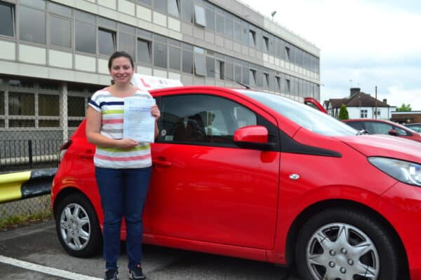 Despina passed her automatic practical driving test first time with Drive with Nik