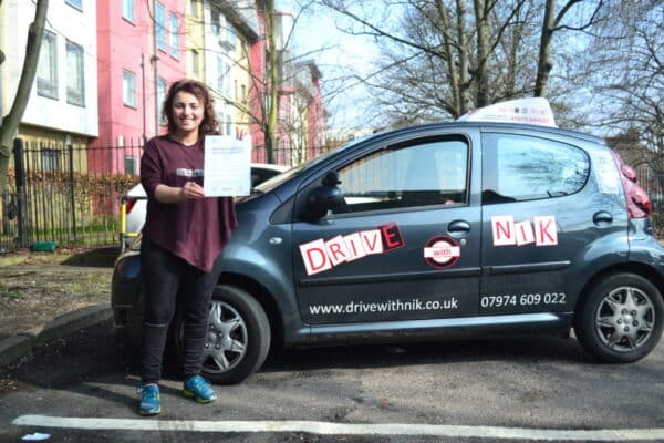 Jonida passed her practical driving test with Drive with Nik