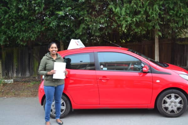 Automatic Driving Lessons Friern BArnet Minolee passed her automatic driving test with Drive with Nik