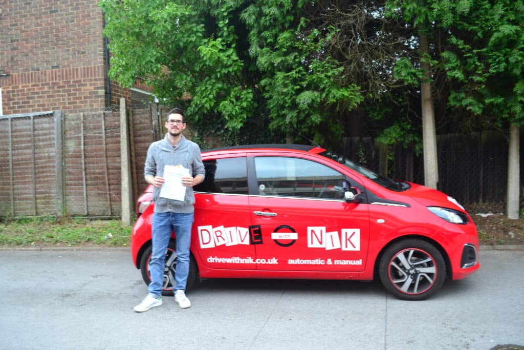 Manual Driving Lesson Crouch End. Sylvain passed with Drive with Nik.
