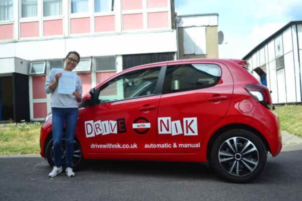 Automatic Driving Lessons Crouch End. Emiliya passed her automatic driving test with Drive with Nik.