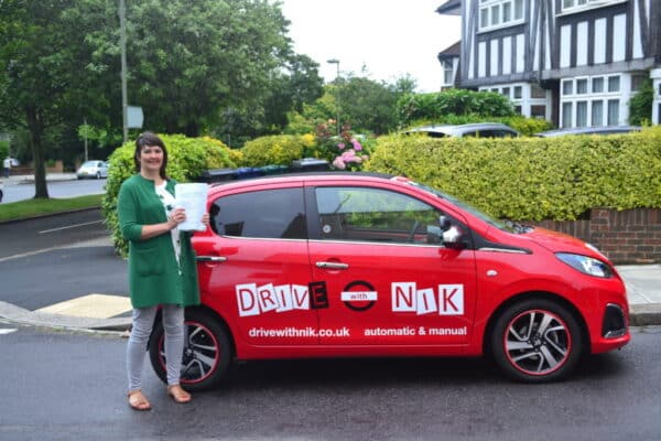 Manual Driving Lessons Muswell Hill. Helen passed 1st time.