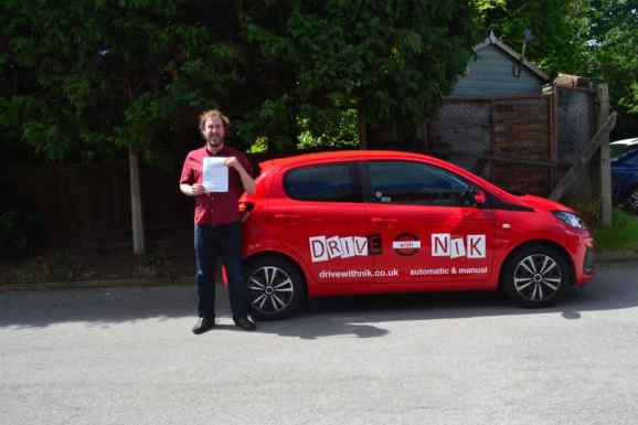 Automatic Driving Lessons Crouch End. Paul passed his automatic driving test with Drive with Nik.