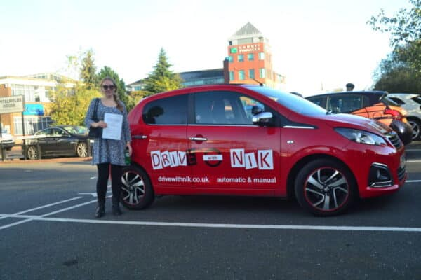 Driving Lessons Crouch End. Laura passed with Drive with Nik.