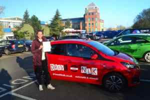Automatic Driving Lessons Palmers Green. Zara passed her driving test first time with Drive with Nik.