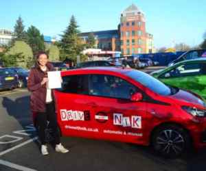 Automatic Driving Lessons Palmers Green. Zara's review.