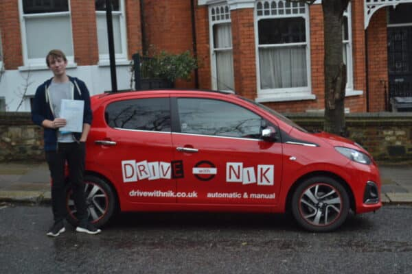 Driving Lessons Muswell Hill. Bart passed 1st time.
