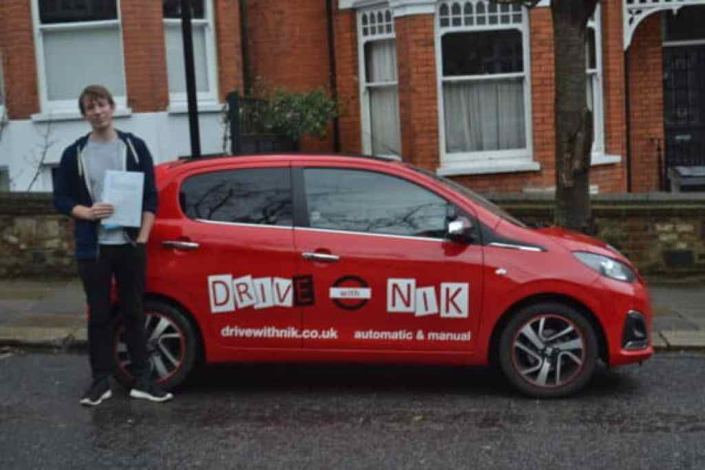 Manual Driving Lessons Muswell Hill. Bart passed his manual driving test first time with Drive with Nik.