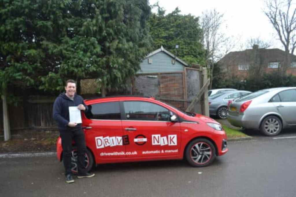 Manual Driving Lessons Crouch Hill. David passed his manual driving test with Drive with Nik.