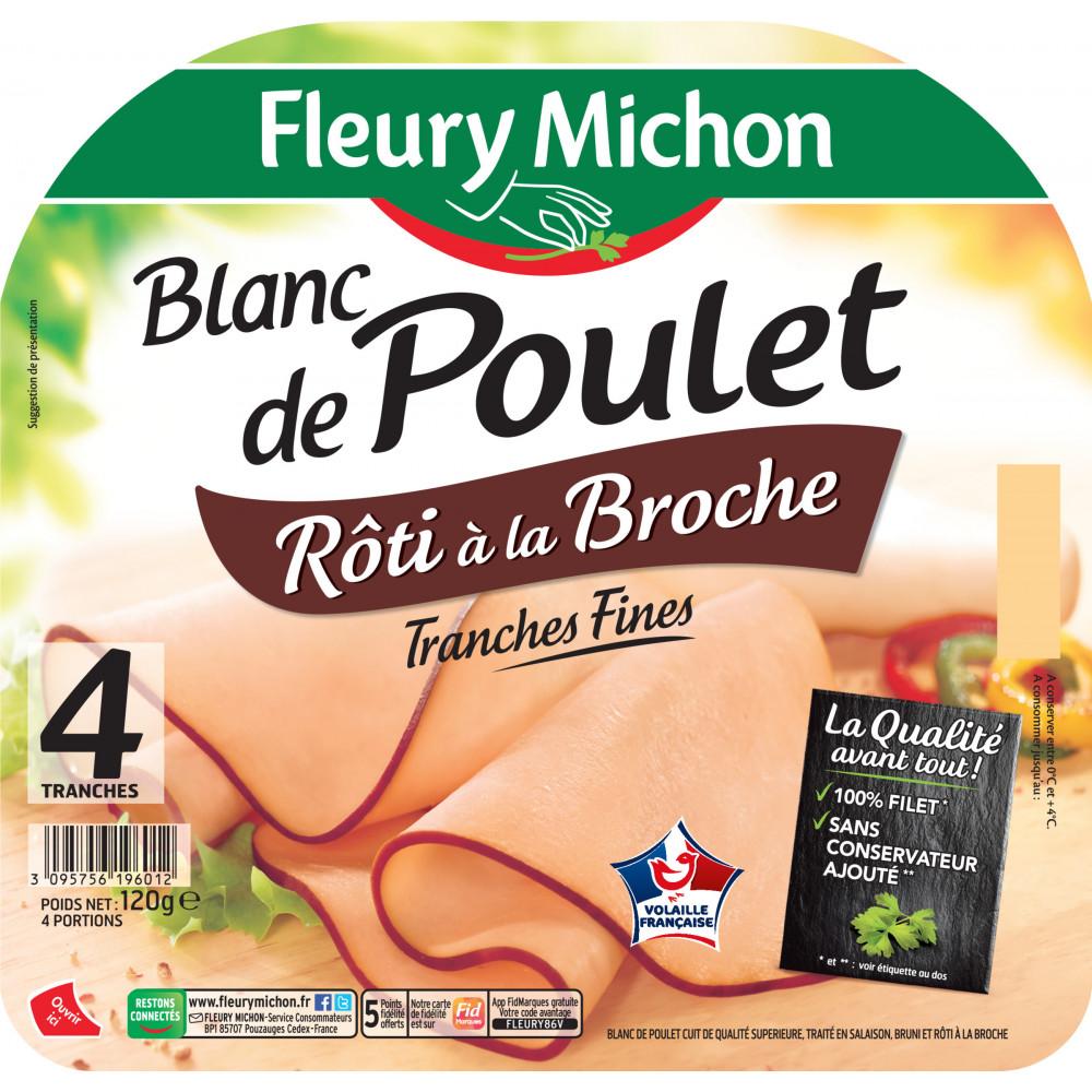 Blanc De Poulet Roti A La Broche Fleury Michon 120 G Drive Z Eclerc