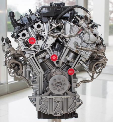 Ford engineers designed the new 3.5-liter EcoBoost engine to provide better low-end and peak engine performance, ideal for hauling heavy payloads and towing heavy trailers.