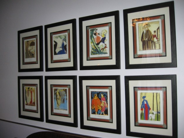 Color copies of original fashion prints.