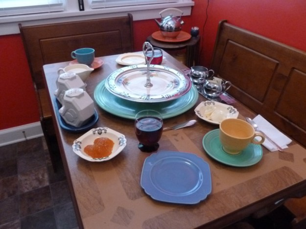 Setting the breakfast table with Fiestaware and Riviera makes for a colorful start to the day.
