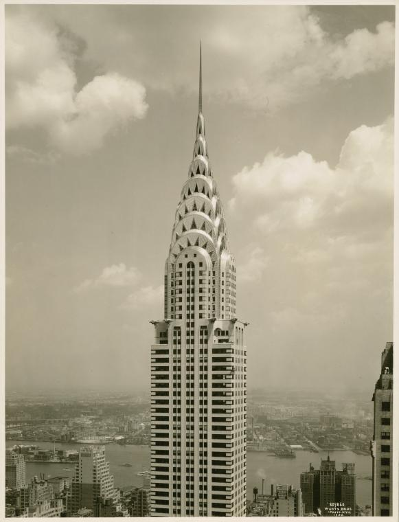 The Chrysler Building in the summer of 1930.