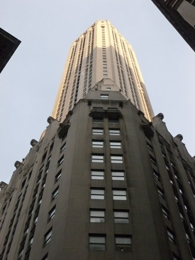 The 741 foot tower of the City Bank-Farmers Trust Building.