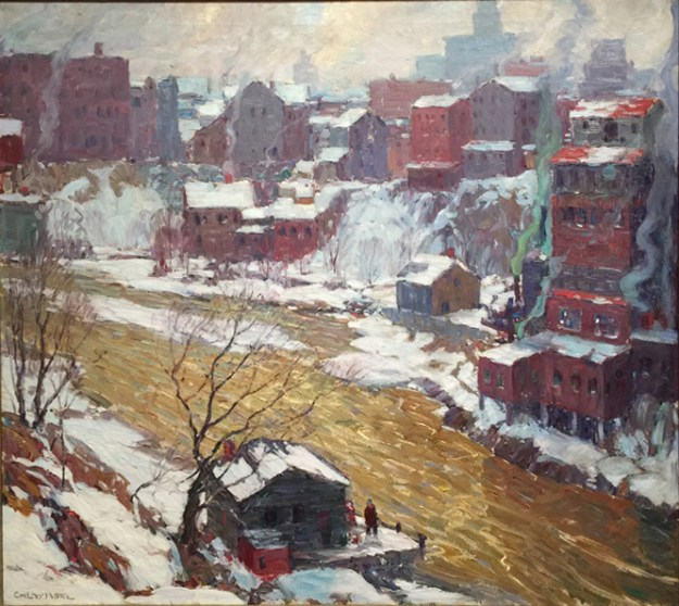Along the Genesee (1928). Peter captures the Genesee River gorge just north of downtown Rochester