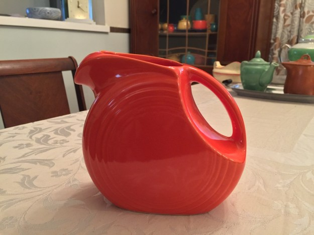 The Red Juice Pitcher made for the Old Reliable Coffee special promotion.
