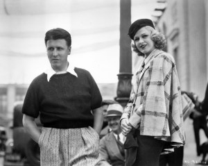George Stevens and Ginger Rogers on the set of Swing Time.
