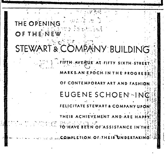 Schoen, Inc. New York Times advertisement.
