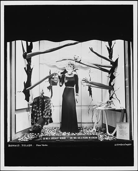 Dali designed window at Bonwit Teller. 1936.