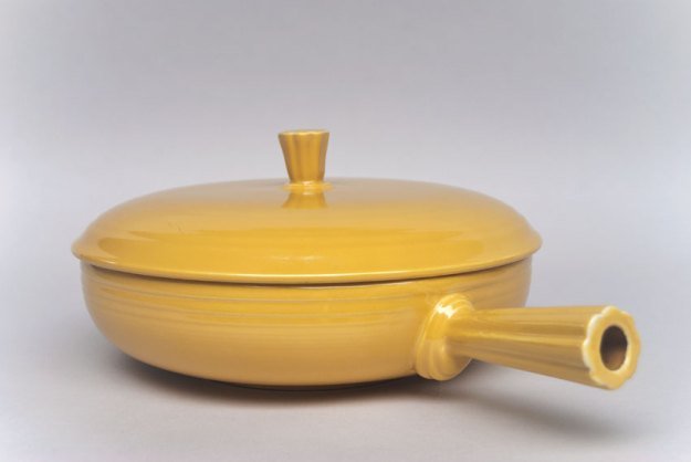 French casserole in yellow.