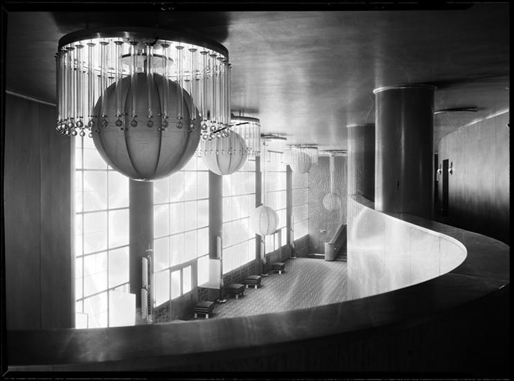 R-K-O Roxy Lobby from the Mezzanine, 1932.