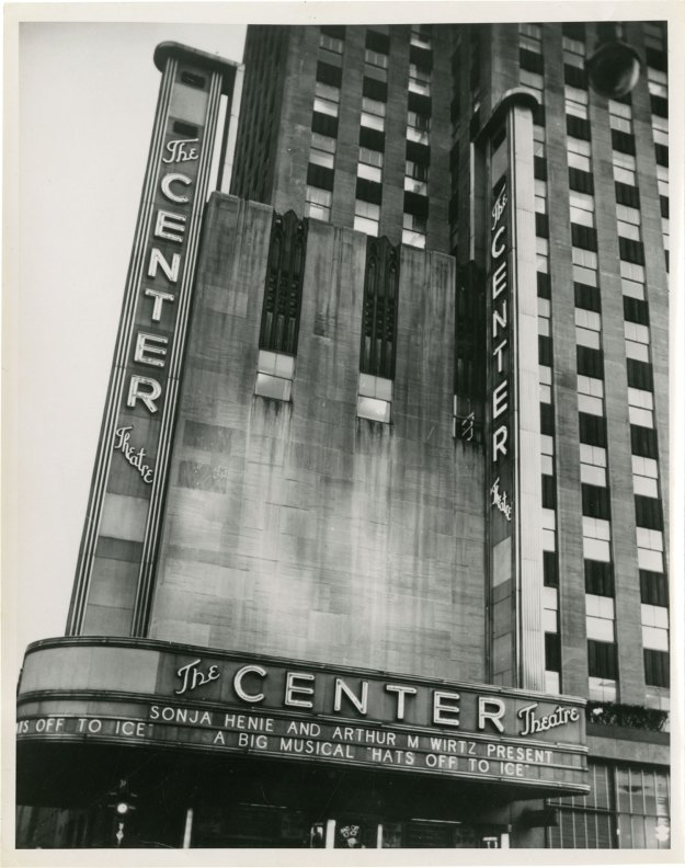 Hats Off to Ice at the Center Theatre, 1945.
