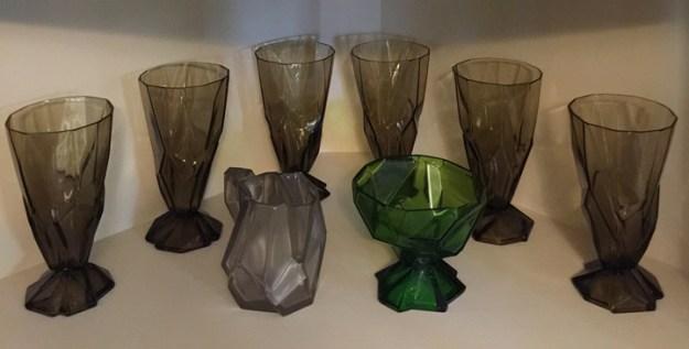Ruba Rombic glassware
