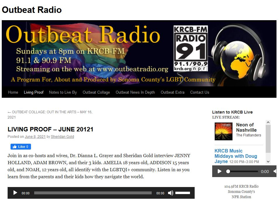 Outbeat Radio Interview with Jenny Holland, PsyD