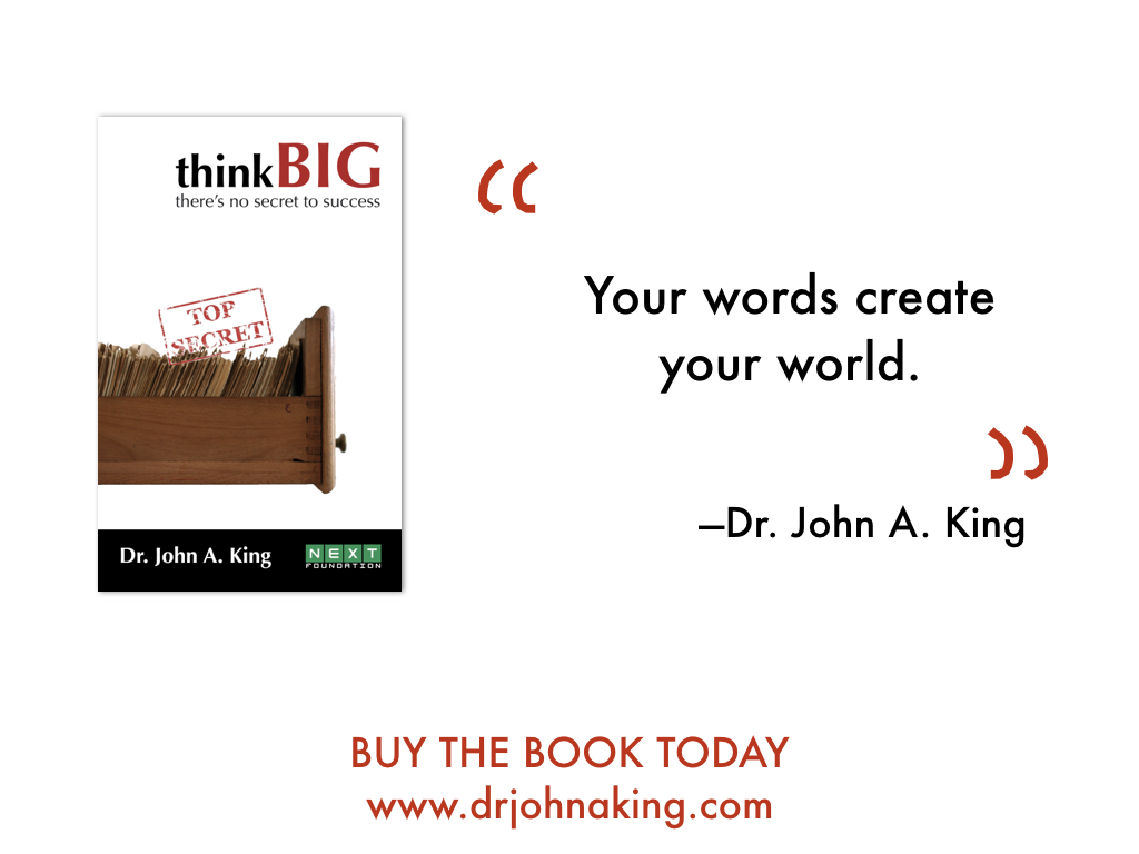 Think Big: No Secret to Success #drjohnaking