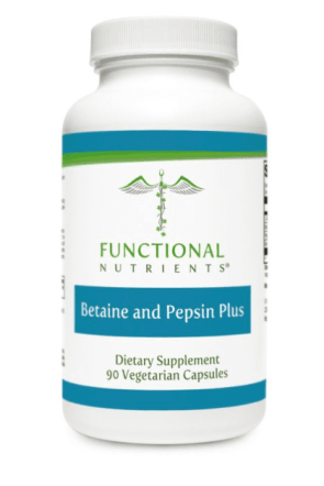 Betaine and Pepsin Plus can help digestive distress