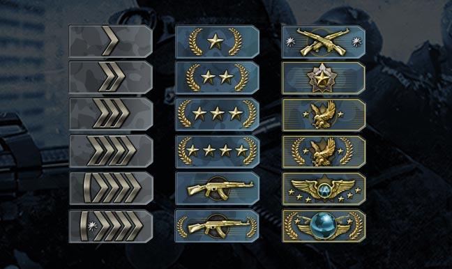 Les ranks CS:GO
