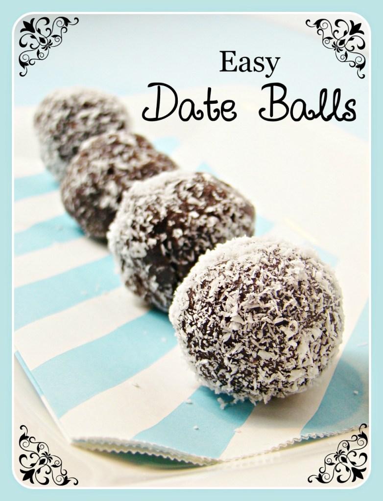 Easy Date Balls