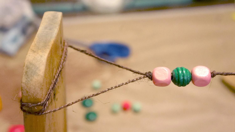 Diy estantería con cuerdas