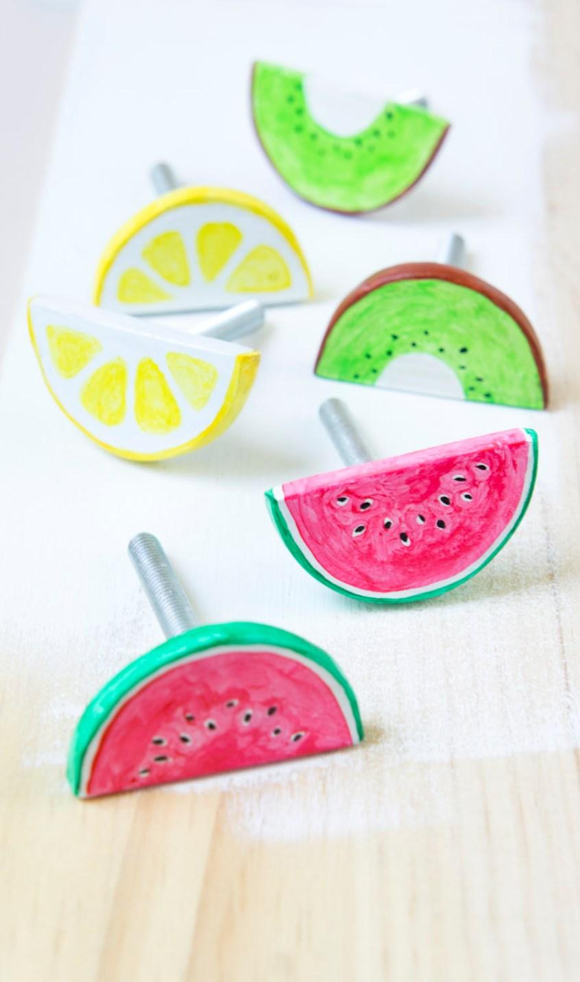 Diy tiradores en forma de frutas